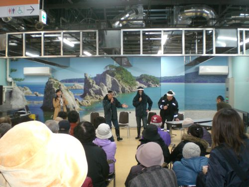 上勝さん、漁港の森田船長のトークショー